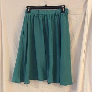 Blue flowy skirt